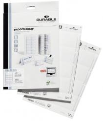 BADGEMAKER®, Einsteckschilder 60 x 90 mm, weiß