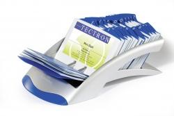 Visitenkartenkartei VISIFIX® DESK VEGAS, metallic silber
