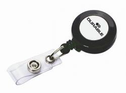 Ausweishalter JoJo mit Druckknopf - Aufrollmechanismus, ca. 80 cm, anthrazit, 10 Stück