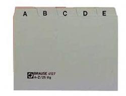 Leitregister PP - A7 quer, grau