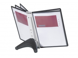 Sichttafelsystem SHERPA® SOHO 5 - schwarz/grau
