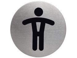 PICTO WC Herren, 83 mm Durchmesser, metallic silber