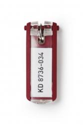 Schlüsselanhänger KEY CLIP - rot - Beutel mit 6 Stück