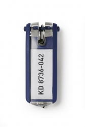 Schlüsselanhänger KEY CLIP - blau - Beutel mit 6 Stück