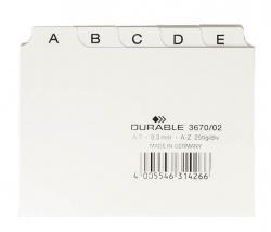Leitregister A-Z - DIN A7 quer, weiß