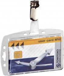 Ausweishülle mit Security Clip - Kunststoff, 85 x 54 mm, 25 Stück