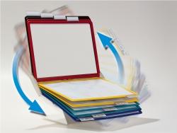 Sichttafelsystem VARIO® PRO 10, farbig sortiert