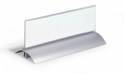 Tischnamensschild DESK PRESENTER DE LUXE, Einsteckschilder 61 x 210 mm, transparent