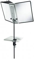 Sichttafelsystem SHERPA® Desk Clamp 10 - 10 Tafeln, schwarz/grau