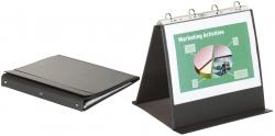 Tischflipchart Economy - A4 quer, schwarz, mit 20 Hüllen