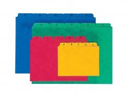 Kartei-Leitregister A - Z - für Größe A5 quer, blau