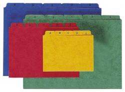 Kartei-Leitregister A - Z - für Größe A5 quer, gelb