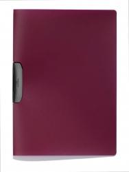 Klemm-Mappe DURASWING® - A4, aubergine/graphit
