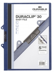 Klemm-Mappe DURACLIP® 30 EASY FILE, DIN A4, dunkelblau