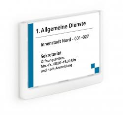 Türschild CLICK SIGN, Rahmen weiß, 149 x 105,5 mm, transparent