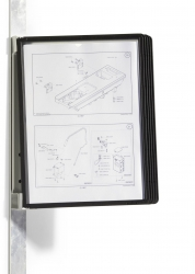Sichttafelsystem VARIO® MAGNET WALL 5 - Wandset, 5 Sichttafeln A4, schwarz