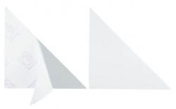 Dreiecktasche Cornerfix®, 175x175mm, sk., transparent, 100St.