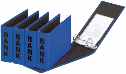 Bankordner Color-Einband - A5 , 50 mm, Color Einband, blau