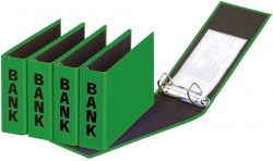 Bankordner Color-Einband - A5 , 50 mm, Color Einband, grün