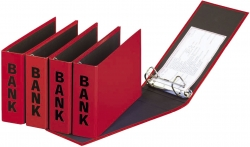Bankordner Color-Einband - A5 , 50 mm, Color Einband, rot