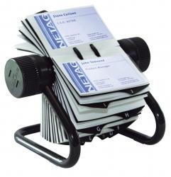 VISIFIX® Rollkartei, inkl. 200 Hüllen und 25tlg. Register, für 400 Visitenkarten 104 x 72 mm