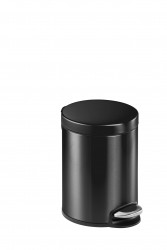 Treteimer, Edelstahl, rund, 290 x 260 mm x Ø 205 mm, 5 l, anthrazit