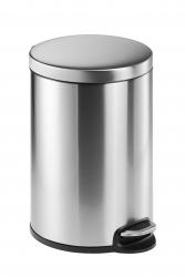Treteimer, Edelstahl, rund, 455 x 360 mm x Ø 292 mm, 20 l, metallic silber
