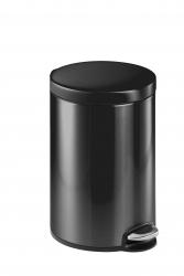 Treteimer, Edelstahl, rund, 400 x 310 mm x Ø 250 mm, 12 l, anthrazit