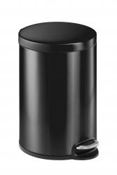 Treteimer, Edelstahl, rund, 455 x 360 mm x Ø 292 mm, 20 l, anthrazit
