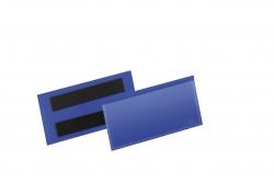 Kennzeichnungstasche - magnetisch, 100 x 38 mm, PP, dokumentenecht, dunkelblau, 50 Stück
