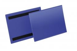 Kennzeichnungstasche - magnetisch, A5 quer, PP, dokumentenecht, dunkelblau, 50 Stück