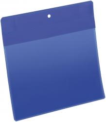 Kennzeichnungstasche - magnetisch, A5 quer, PP, dokumentenecht, dunkelblau, 10 Stück