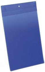 Kennzeichnungstasche - magnetisch, A4 hoch, PP, dokumentenecht, dunkelblau, 10 Stück