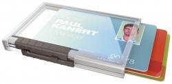 Ausweishülle Pushbox TRIO - Kunststoff, transparent, 10 Stück