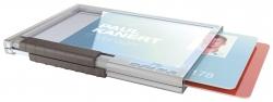 Ausweishülle Pushbox DUO - Kunststoff, transparent, 10 Stück