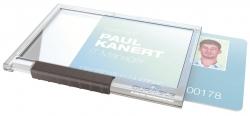 Ausweishülle Pushbox MONO - Kunststoff, transparent, 10 Stück