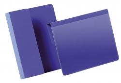 Kennzeichnungstasche mit Falz - A6 quer, dunkelblau, 50 Stück