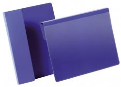 Kennzeichnungstasche mit Falz - A5 quer, dunkelblau, 50 Stück