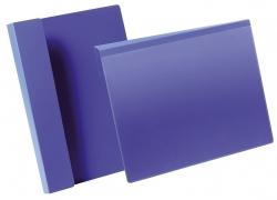 Kennzeichnungstasche mit Falz - A4 quer, dunkelblau, 50 Stück