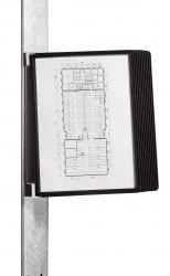 Sichttafelsystem VARIO® MAGNET WALL 10 - Wandset, 10 Sichttafeln A4, schwarz