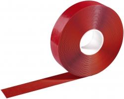 Warnmarkierungsband - 50mm x 30m, selbstklebend, rot