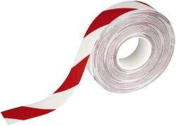 Warnmarkierungsband - 50mm x 30m, selbstklebend, rot/weiß