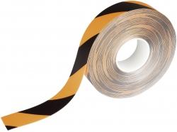 Warnmarkierungsband - 50mm x 30m, selbstklebend, gelb/schwarz