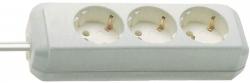Steckdosenleiste - 3-fach ohne Schalter, weiß