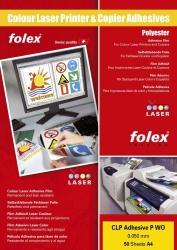 Farbdrucker- und Farbkopiererfolien weiß und klar, selbstklebend - A4, 0,05 mm, weiß glänzend, 50 Folien