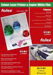 Farbdrucker- und Farbkopiererfolien weiß und klar - A4, 0,125 mm, weiß glänzend, 50 Folien
