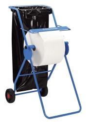 Fahrbarer Bodenständer f. L20 Wischtuch-Großrollen, blau