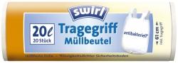 Müll-Beutel antibakteriell mit Tragegriffen - 20 Liter, Folienstärke 10 mym, 20 Stück