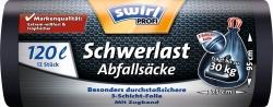 Schwerlast-Säcke 120 Liter, 12 Stück, schwarz