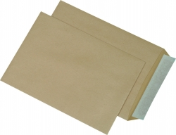 Versandtaschen C5, ohne Fenster, haftklebend, 90 g/qm, braun, 500 Stück